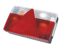 2122302 Tail light left - 7 fcts - triangle - foglight - reverse Tail light - traingle - 7 functions - left