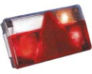 2122303 Tail light right - 5 fcts - triangle - foglight - reverse Tail light - traingle - 7 functions - right