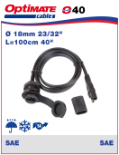 252-040 Socket - SAE - weatherproof - panel mount Socket - SAE - weatherproof - panel mount