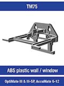252006BRA Wall bracket - ABS - OM3 and AM6-12 Wall bracket - ABS - OM3 and AM6-12 252006BRA