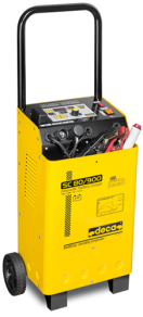 253166 Booster SC 80/900 1Ph 230/50-60 Out. 12-24V - Schuko plug Professional microprocessor-controlled battery charger and starter.
