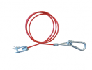 B301203-2 Breakaway cable red 114cm fork/hook  B301203-2