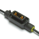 IM-HLP7325 Fuse holder - Minioto - 1.5mm² - black - cover - low profile  IM-HLP7325