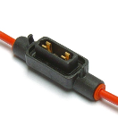 IM-HLP7335 Fuse holder - Minioto - 2.5mm² - red - cover - low profile  IM-HLP7335