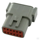 LD-DTM04-12PA Deutsch DTM connector - grey - key A - 12 poles - M  LD-DTM04-12PA