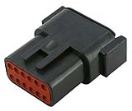 LD-DTM04-12PB Deutsch DTM connector - black - key B - 12 poles - M  LD-DTM04-12PB