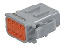 LD-DTM06-08SA Deutsch DTM connector - grey - key A - 8 poles - F  LD-DTM06-08SA