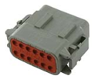 LD-DTM06-12SA Deutsch DTM connector - grey - key A - 12 poles - F  LD-DTM06-12SA