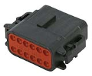 LD-DTM06-12SB Deutsch DTM connector - black - key B - 12 poles - F  LD-DTM06-12SB