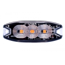 LE160036-P3 Led - strobe lamp 3xled - 12-24V - orange - clear lens - Blister Led - strobe lamp 3xled - 12-24V - orange - clear lens - Blister LE160036-P3