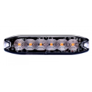 LE160038-P3 Led - strobe lamp 6xled - 12-24V - orange - clear lens - Blister Led - strobe lamp 6xled - 12-24V - orange - clear lens - Blister LE160038-P3