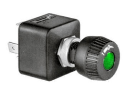 ME250600 Merit rotary switch round, green illuminated, O-I Merit rotary switch round, green illuminated, O-I