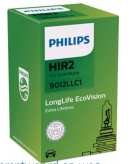 P9012LL Philips HIR2 - 12V - 55W - PX22d - Longlife EcoVision  P9012LL