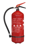 R101356A Fire extinguisher - 6kg - ABC - manometer - buildings  Brandblusser