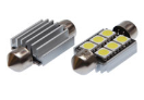SF93533796 Bulb - 12V - 6Xsmd 5050 - Led - SV8.5 - White 15X36 Double Polarity Canbus - 2pc  SF93533796